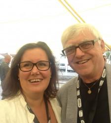 Både divisjonsdirektør Gunn M. Lassesen i Haugaland Kraft og John Rullestad i SILK er fornøyde med samarbeidsavtalen der Haugaland Kraft blir festivalens hovedsponsor.