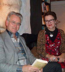 Gunnar Staalesen. her sammen med medlem av SILKs faglige råd, Rosie Goldmith. begge er på plass til årets SILK.